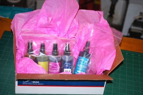 So much fun to receive this package of Adirondak color wash from Joggles