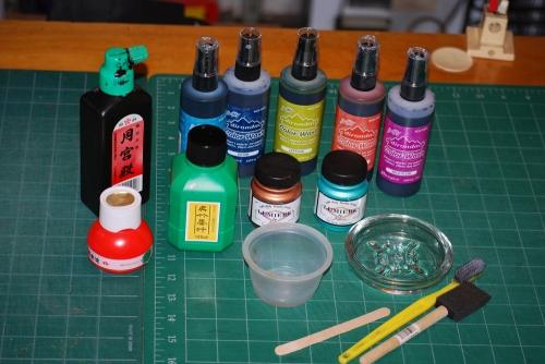 Supplies for Sink Art