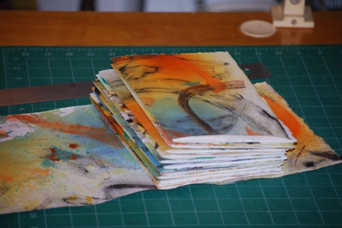 5. Folded folios with cover paper