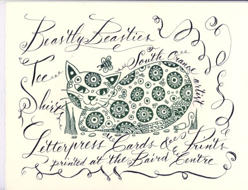 calligraphy and print by Ann Vollum