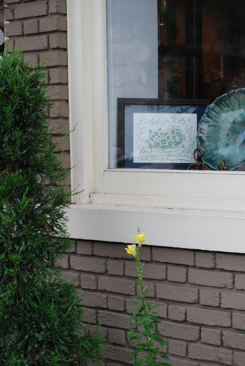 A BeastlyBeasties Fea Cat print in the window