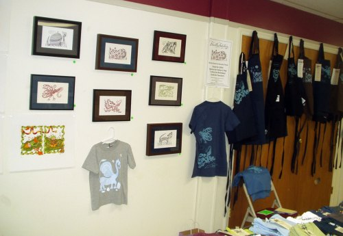 My wall at the Baird for the Artists Studio Tour