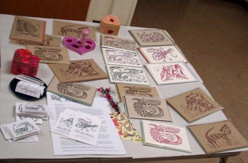 Letterpress cards by BeastlyBeasties