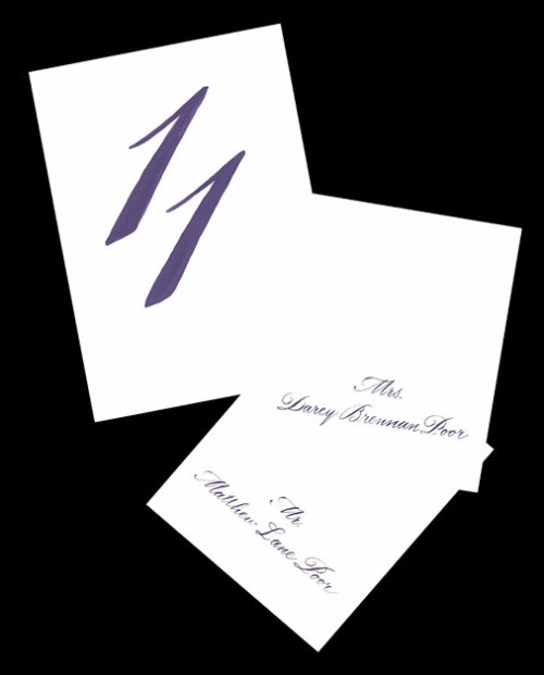 Bickham Table Number and Seating Cards