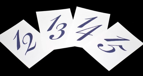 Table Numbers in Bickham - Royal Purple