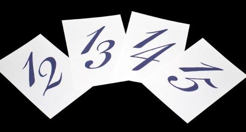 Table Numbers in Bickham - Royal Purple