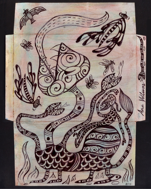 5 Mail Me Art inside * © Ann Vollum USA